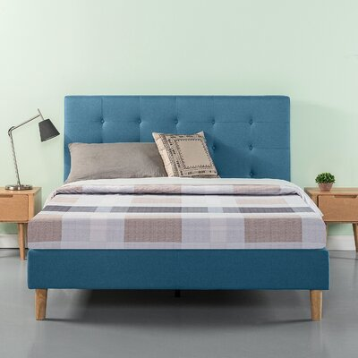 Atkison Button Tufted Upholstered Platform Bed Size: Full/Double