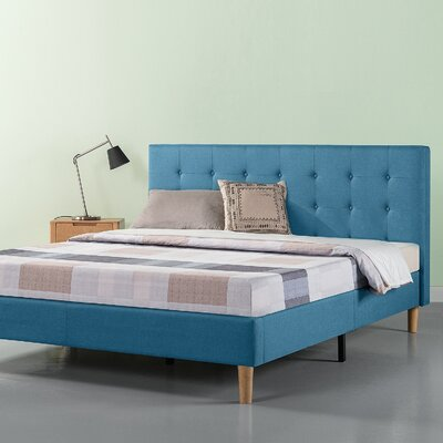 Atkison Button Tufted Upholstered Platform Bed Size: King