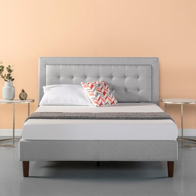 Atkin Button Tufted Upholstered Platform Bed Size: Full/Double