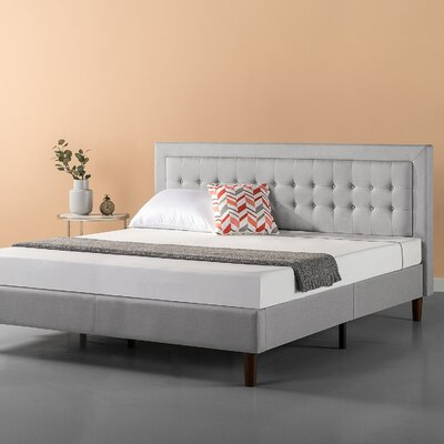Atkin Button Tufted Upholstered Platform Bed Size: King