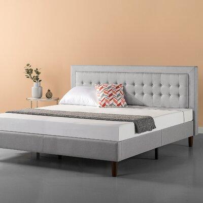 Atkin Button Tufted Upholstered Platform Bed Size: King
