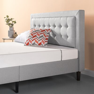 Atkin Button Tufted Upholstered Platform Bed Size: Queen