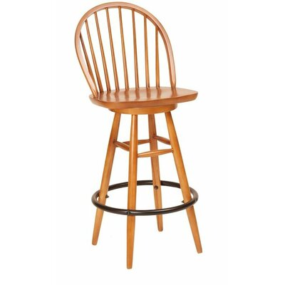30 Swivel Bar Stool Color: English Oak