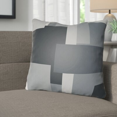 Wakefield Throw Pillow Size: 20 H x 20 W x 4 D, Color: Grey