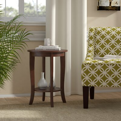 Lucile Round End Table Color: Mahogany