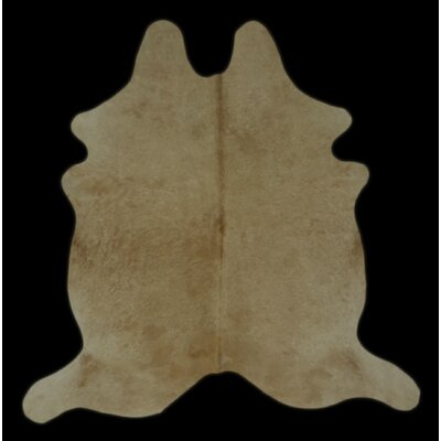 One-of-a-Kind Craine Hand-Woven Cowhide Beige Area Rug
