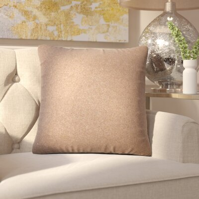 Ambriz Solid Throw Pillow Color: Gold