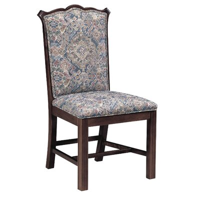 Upholstered Dining Chair Upholstery Color: Partner Black, Frame Color: Wild Cherry