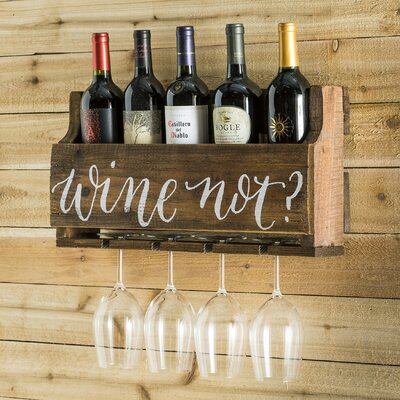 Mccandless Wine Not 5 Bottle Wall Mounted Wine Rack