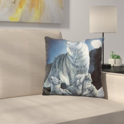 Howling Lessons Throw Pillow