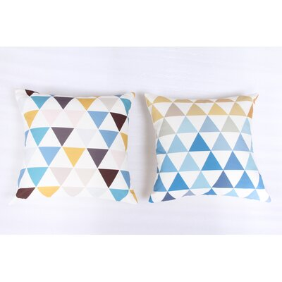 Geometric 2 Piece Indoor/Outdoor Throw Pillow Set