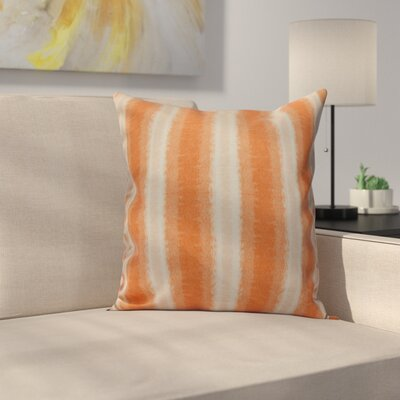 Navarro Lines Throw Pillow Size: 18 H x 18 W, Color: Orange
