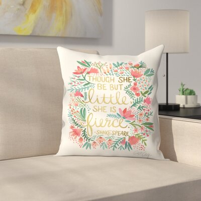 Cat Coquillette Little and Fierce Throw Pillow Size: 20 x 20