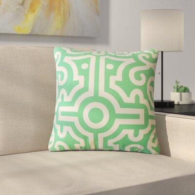 Renick Geometric Cotton Throw Pillow Color: Jade