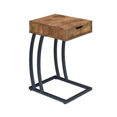 Loyd End Table with Storage Color: Antique Nutmeg