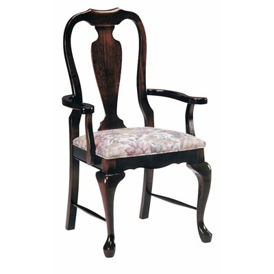 Solid Wood Dining Chair Upholstery Color: Partner White, Frame Color: Wild Cherry