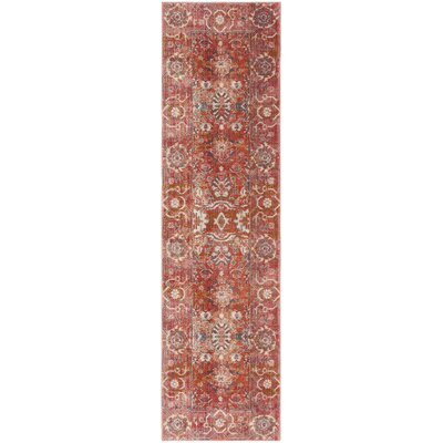Mullens Persian Red/Orange Area Rug Rug Size: Runner 22 x 12
