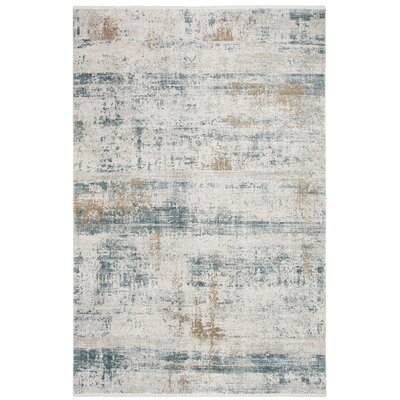 Cybulski Beige/Blue Area Rug Rug Size: Rectangle 4 x 6