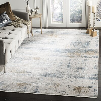 Cybulski Beige/Blue Area Rug Rug Size: Rectangle 6 x 9
