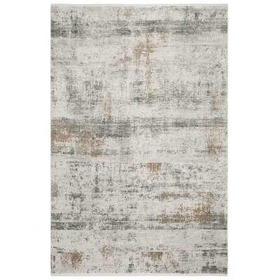 Cybulski Gray Area Rug Rug Size: Rectangle 4 x 6