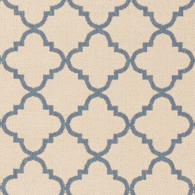 Sherell Cream/Blue Area Rug Rug Size: Runner 2 x 8