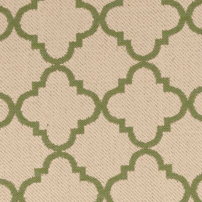Sherell Cream/Olive Area Rug Rug Size: Runner 2 x 8