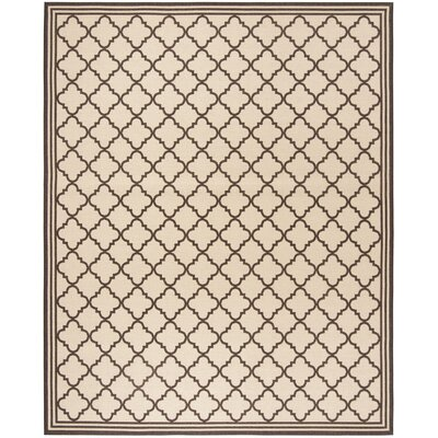 Sherell Creme/Brown Area Rug Rug Size: Rectangle 9 x 12
