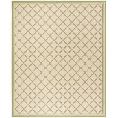Sherell Cream/Olive Area Rug Rug Size: Rectangle 9 x 12