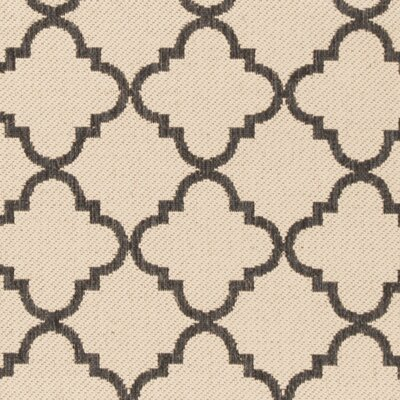 Sherell Creme/Black Area Rug Rug Size: Square 67