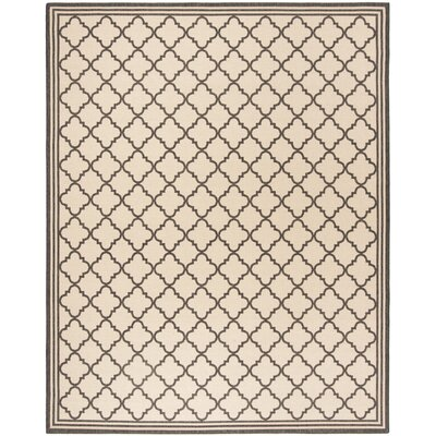 Sherell Creme/Black Area Rug Rug Size: Rectangle 9 x 12