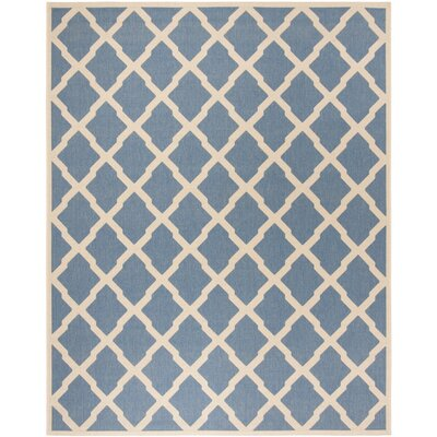 Callender Blue/Creme Area Rug Rug Size: Rectangle 8 x 10