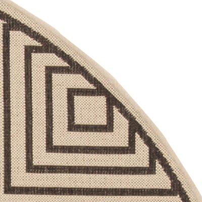 Horne Creme/Brown Area Rug Rug Size: Runner 2 x 8