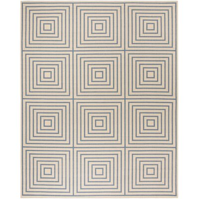 Horne Cream/Blue Area Rug Rug Size: Rectangle 9 x 12