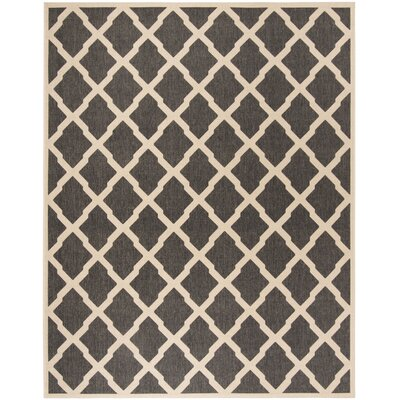 Callender Black/Creme Area Rug Rug Size: Rectangle 8 x 10