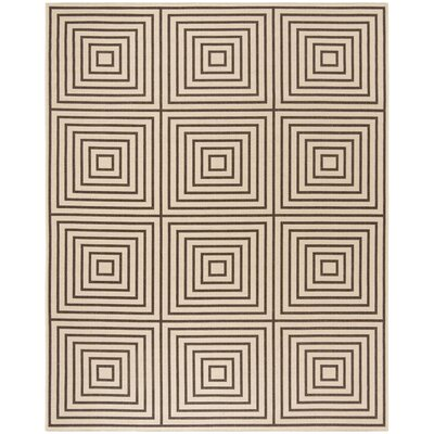 Horne Creme/Brown Area Rug Rug Size: Rectangle 9 x 12