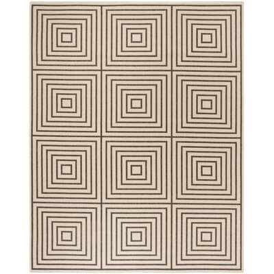 Horne Creme/Black Area Rug Rug Size: Rectangle 8 x 10