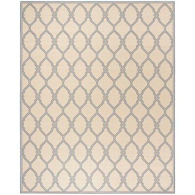 Croker Cream/Blue Area Rug Rug Size: Rectangle 8 x 10