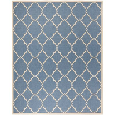 Croker Blue/Cream Area Rug Rug Size: Rectangle 8 x 10