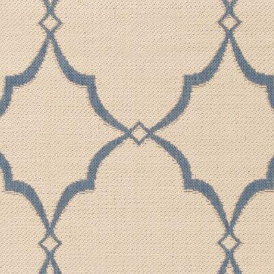 Croker Cream/Blue Area Rug Rug Size: Runner 2 x 8