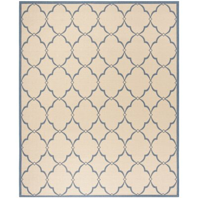 Croker Cream/Blue Area Rug Rug Size: Rectangle 51 x 76