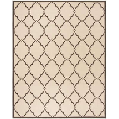 Croker Cream/Brown Area Rug Rug Size: Rectangle 9 x 12