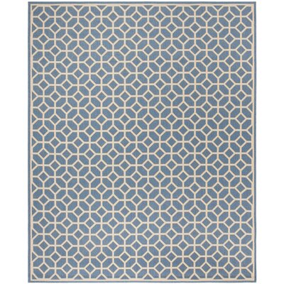 Cosper Blue/Cream Area Rug Rug Size: Rectangle 4 x 6