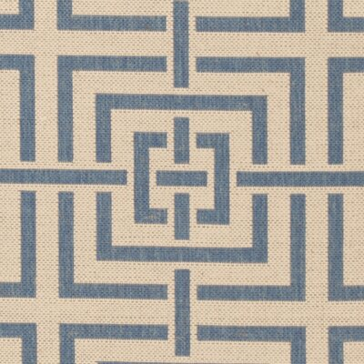 Horsholm Cream/Blue Area Rug Rug Size: Square 67