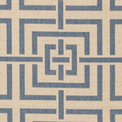 Horsholm Cream/Blue Area Rug Rug Size: Runner 2 x 8