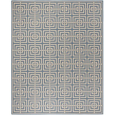 Horsholm Blue/Cream Area Rug Rug Size: Rectangle 9 x 12
