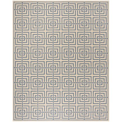 Horsholm Cream/Blue Area Rug Rug Size: Rectangle 8 x 10