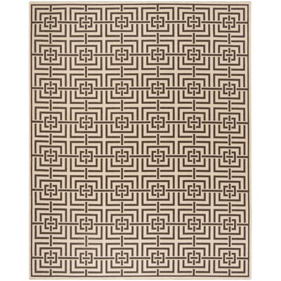 Horne Cream/Brown Area Rug Rug Size: Rectangle 4 x 6
