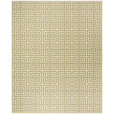 Horne Cream/Olive Area Rug Rug Size: Rectangle 8 x 10