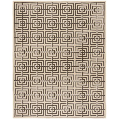 Horne Cream/Black Area Rug Rug Size: Rectangle 9 x 12