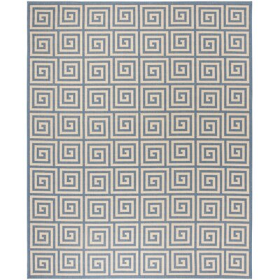 Horne Cream/Blue Area Rug Rug Size: Rectangle 51 x 76